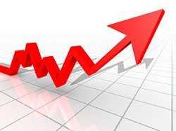 Arrow chart representing aggressive investment portfolio