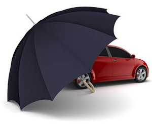 a very large umbrella protecting a car