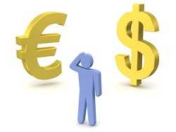 confused between Dollar and Euro