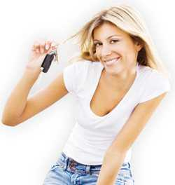 Girl Showing her car keys