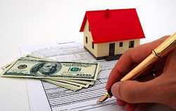 applying home loan by filling out application form