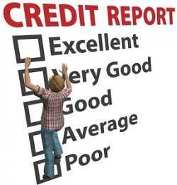man climbing on his credit report