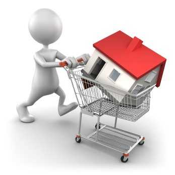 buying a new home in shopping cart