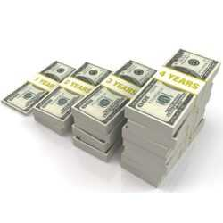 currency notes dollars bundles chart