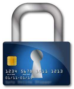 safe credit card with a lock