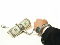hand cuffed to money with key