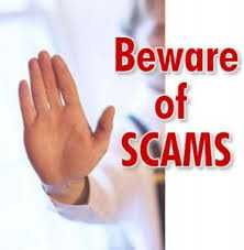 Several scams to avoid